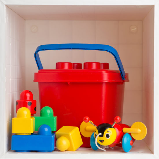 Single Cube with Kids toys