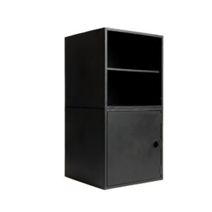 Black 2 Cube Kit with Door and Shelf