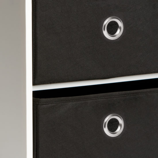Black Half Fabric Drawers